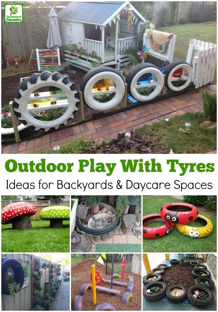 Easy Ideas For Reusing Tyres In Outdoor Play Areas And