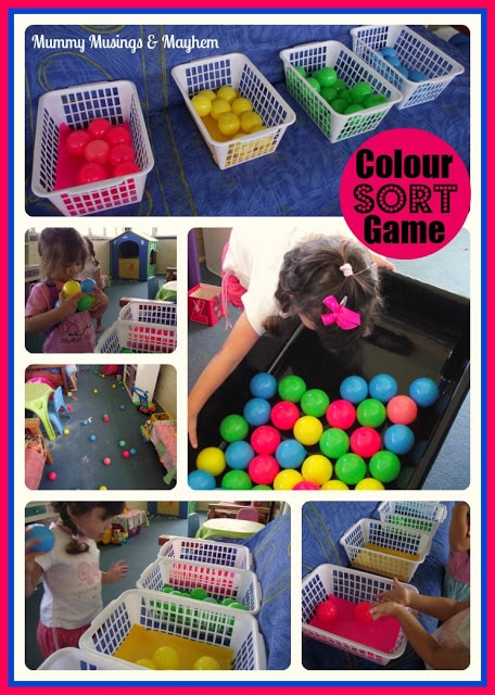 Toddler fine & gross motor colour fun!