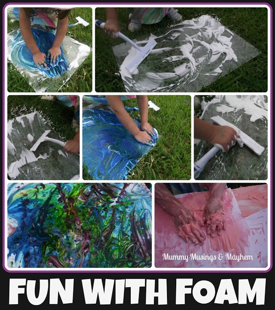 Foamy Sensory Fun – A Lesson in Perseverance!