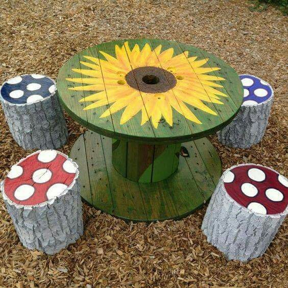 Create budget friendly & playful indoor/outdoor resources by upcycling and repurposing wooden spools and cable reels. Clever ideas to inspire early childhood teachers and parents.
