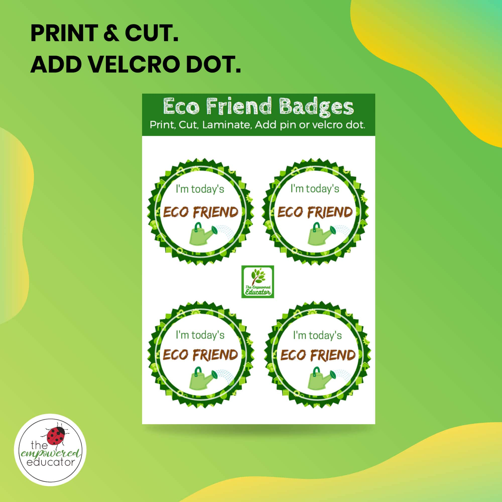 Eco Friends Printable Pack PRINT AND CUT