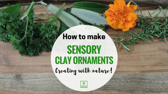 Use this easy 5 minute DIY clay dough recipe and incorporate natural materials to create unique clay nature ornaments for Christmas or whatever the imagination decides - lots of sensory and fine motor fun! Easy activity for early childhood educators and parents to try with all ages!