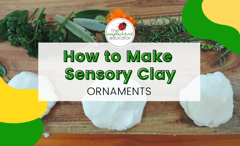 sensory clay ornaments