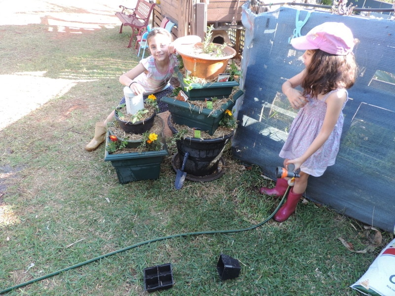 Make gardening with children an active learning (and fun!) experience with this easy sensory plant tower project. Incorporates recycled materials, nature, sensory play, teamwork and so many more learning outcomes! Easy to plan and set up outdoor activity for homeschool, early childhood educators, teachers, schools, daycare and anyone with no space for a big garden! Follow the easy steps here.
