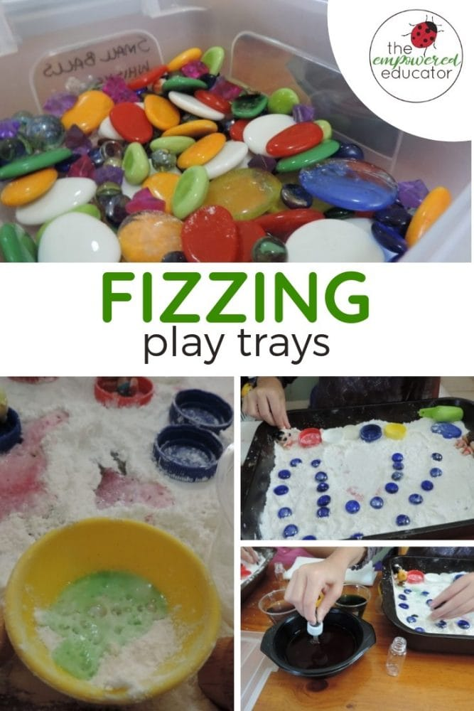 fizzing fine motor trays for sensory play for toddlers and preschoolers