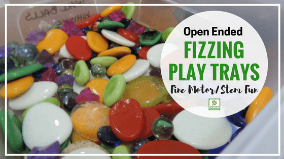This easy sensory fine motor play activity encourages children to create their own small worlds that magically fizz!. Easy to set up with any open ended materials you have handy and a few other basic resources. Perfect for early childhood teachers, home daycare, educators, homeschool and playgroup activities.