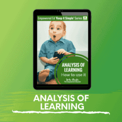 How to Use Analysis of Learning