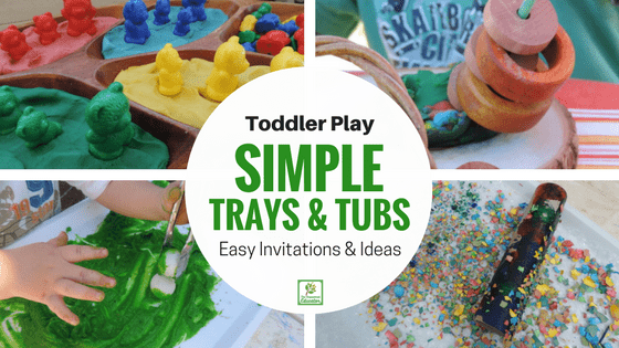 Playful Tubs and Trays for Toddlers