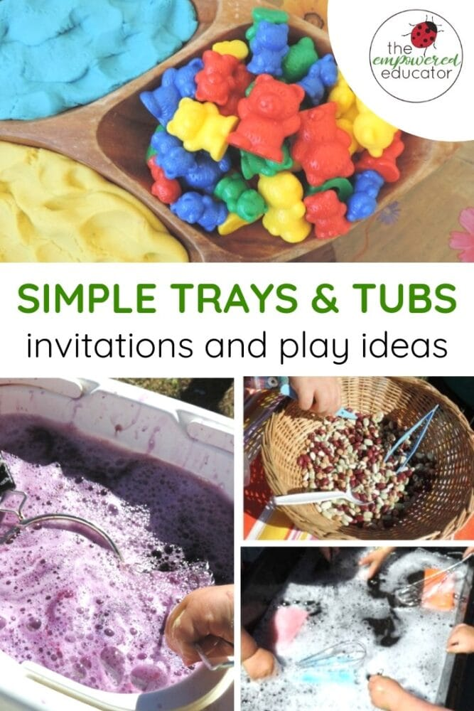 simple trays and tubs toddler invitations to play pinterest