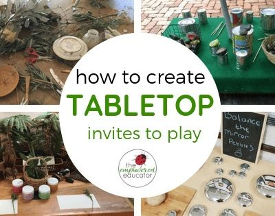 Setting up Invitations To Play – Inspiration from Educators