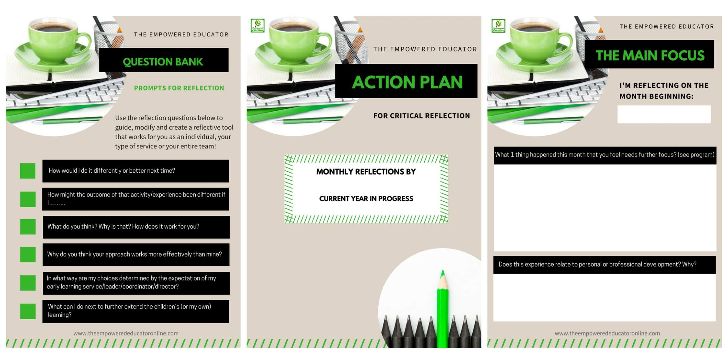 Stop overthinking critical reflection and just get started using these simple explanations, tips, question prompts and free action guide download!