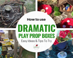 How to invite dramatic play using prop boxes.