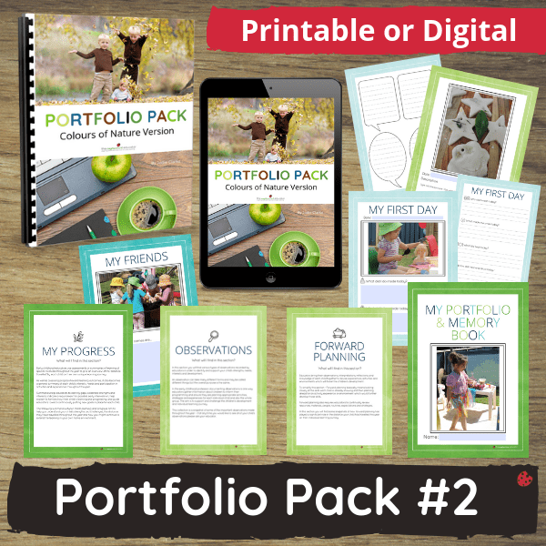 graphic about Printable Portfolio identify Early Several years Portfolio Pack Character Concept