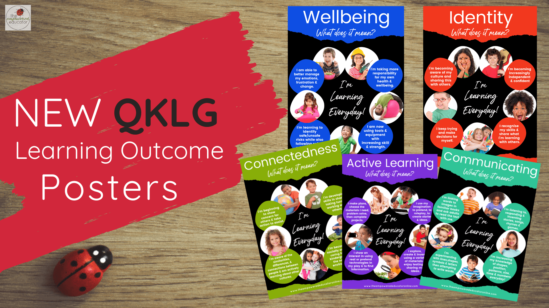 Display these eye catching QKLG learning area posters to help you explain to families the benefits of 'just play' and what key focus areas really mean! #teacherresources #QKLG #printables #programtemplates