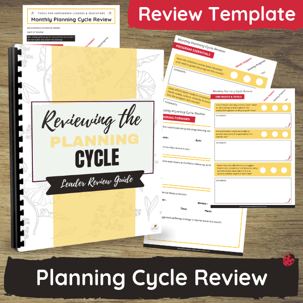 Use this guide and checklist tool to help you regularly review, reflect on, simplify, identify gaps and discuss Educator room programs and planning documentation while keeping clear evidence of your commitment to support team members and their ongoing professional development!