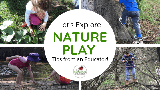 Nature Based Play doesn't need to be difficult! Explore these easy play ideas using natural materials shared by a passionate nature play FDC educator.