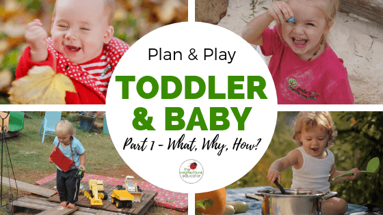 If you struggle to plan, observe and set up learning spaces while also nurturing the younger age groups, use these Planning & Play ideas for babies and toddlersThis is Part 1 in a Empowered Educator 0-2 years planning series for early childhood educators, teachers and homeschool.!