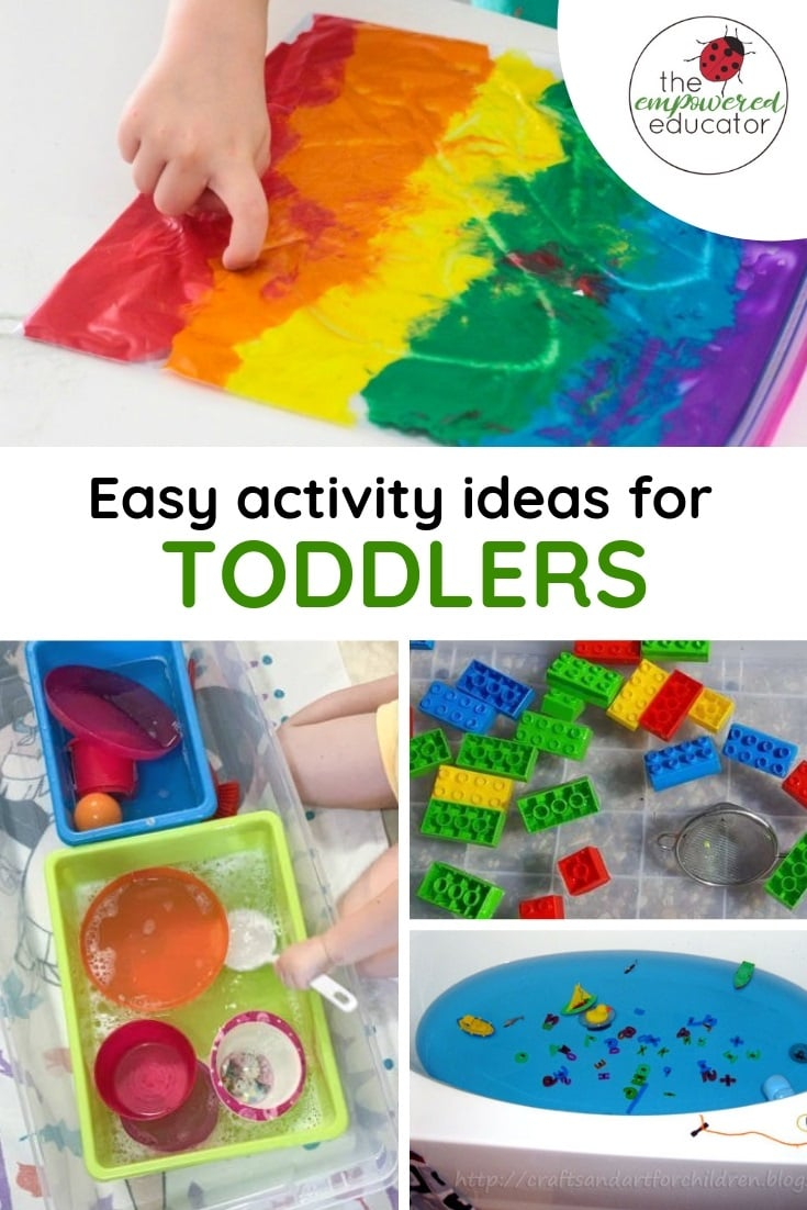 Setup up these simple activity ideas for toddlers and help them learn through play - no hours of prep or expensive materials required! Ideas for early childhood educators, teachers, nursery and homeschool families!