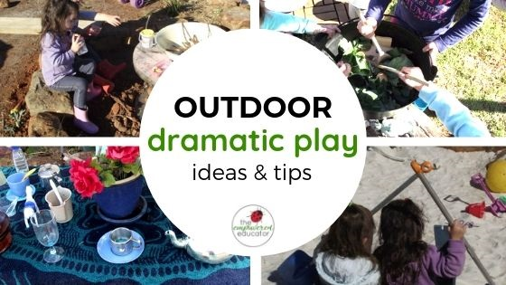 outdoor dramatic play ideas and tips feature image