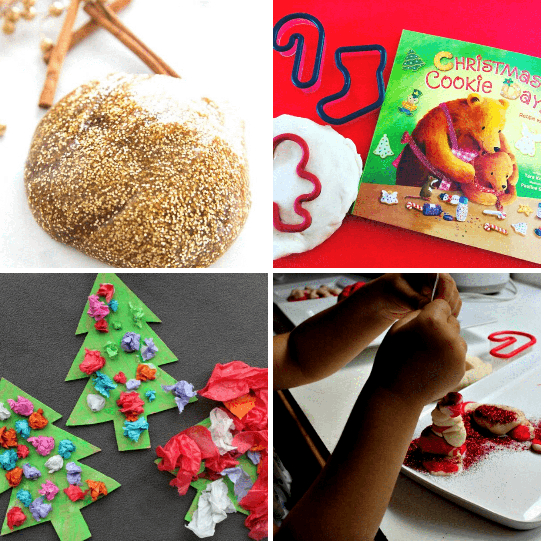 Try these sensory Christmas play ideas and activities from the Empowered Educator for early learning educators, teachers, childcare and daycare providers. Includes sensory processing tips and sensory bins, bags, craft and small world play ideas!