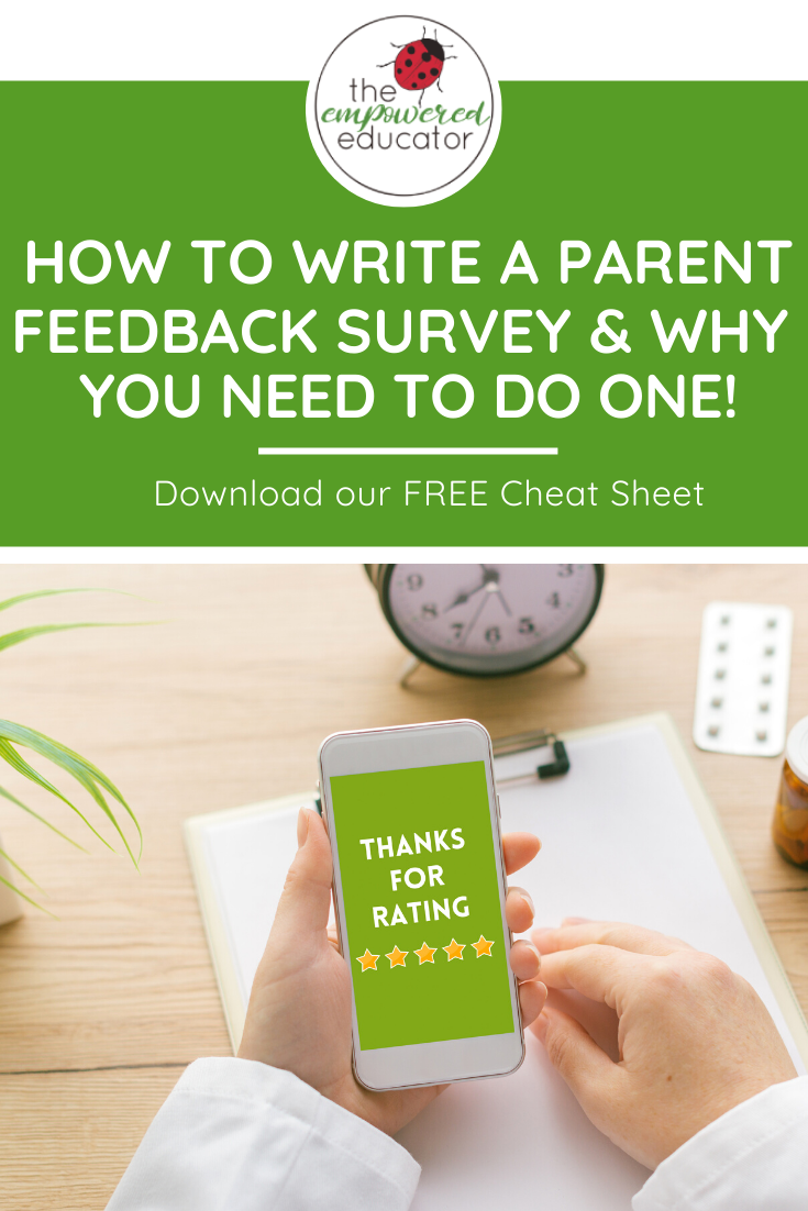 early educators how to write a parent feedback survey