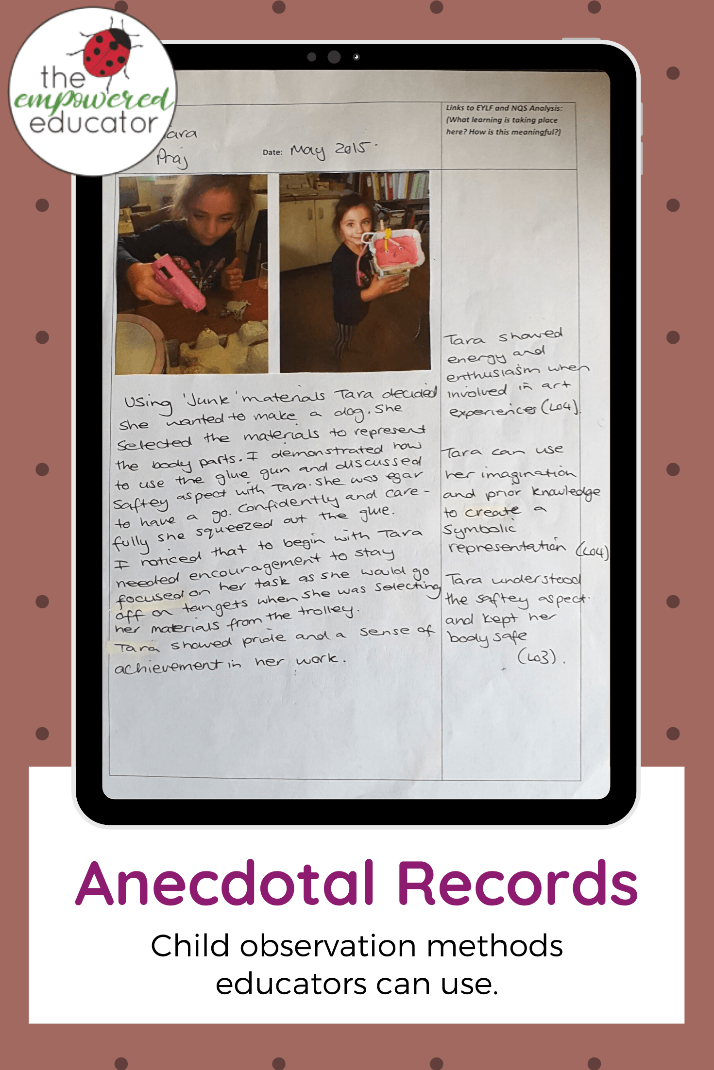 anecdotal records child observation