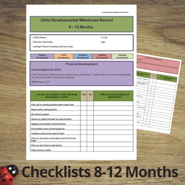 developmental checklists early childhood educators
