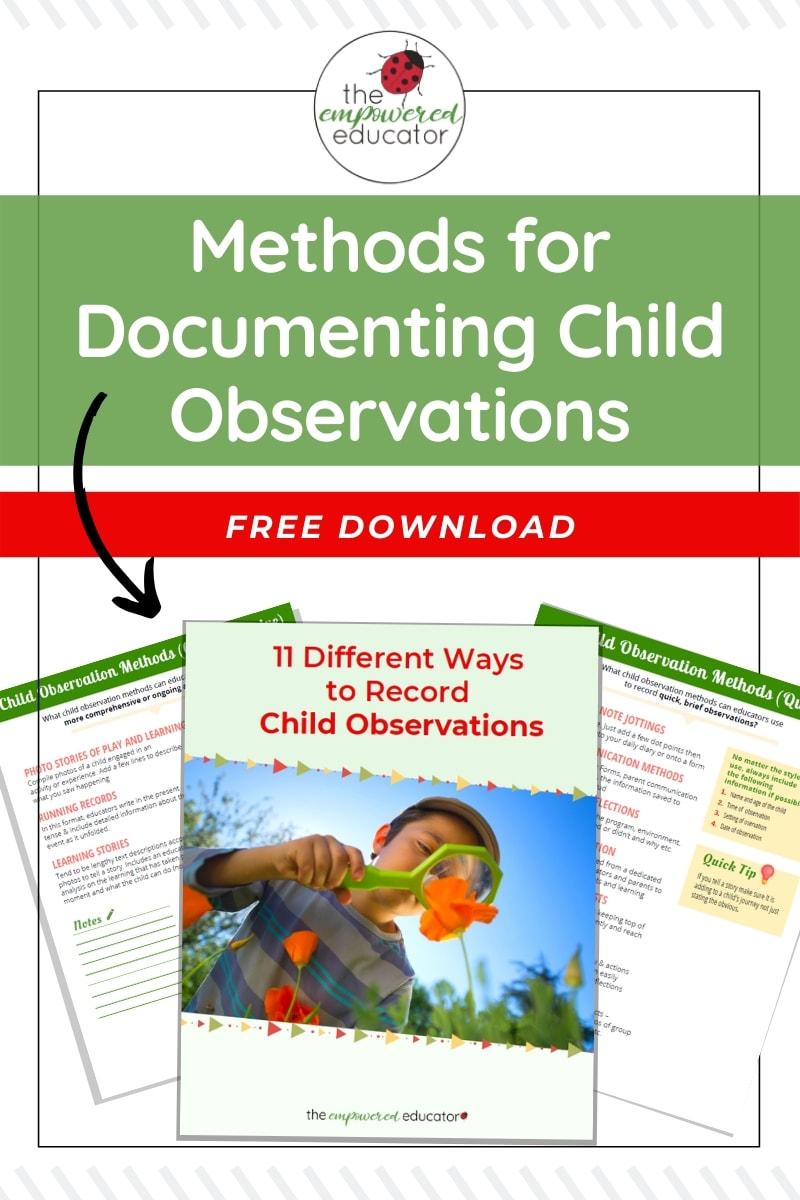 Child Observation Methods Download