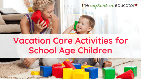 If you are running out of ideas explore this bumper list of easy activity ideas for school age children in vacation care, camp or school holidays!