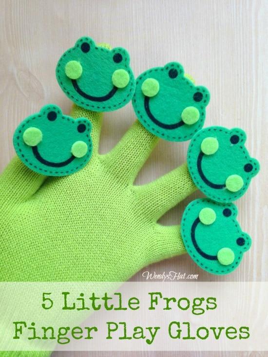 five little frogs finger puppets