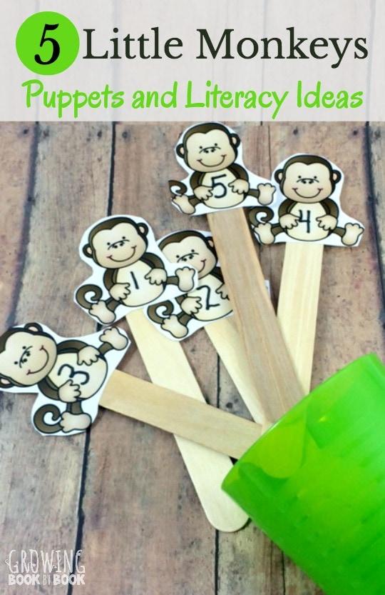Five-Little-Monkeys-Puppets