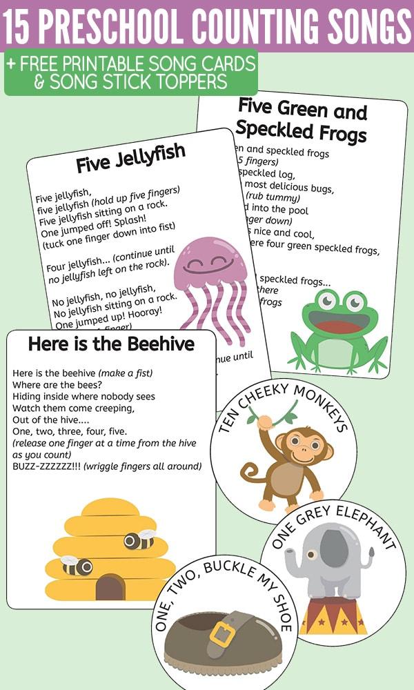 preschool counting songs