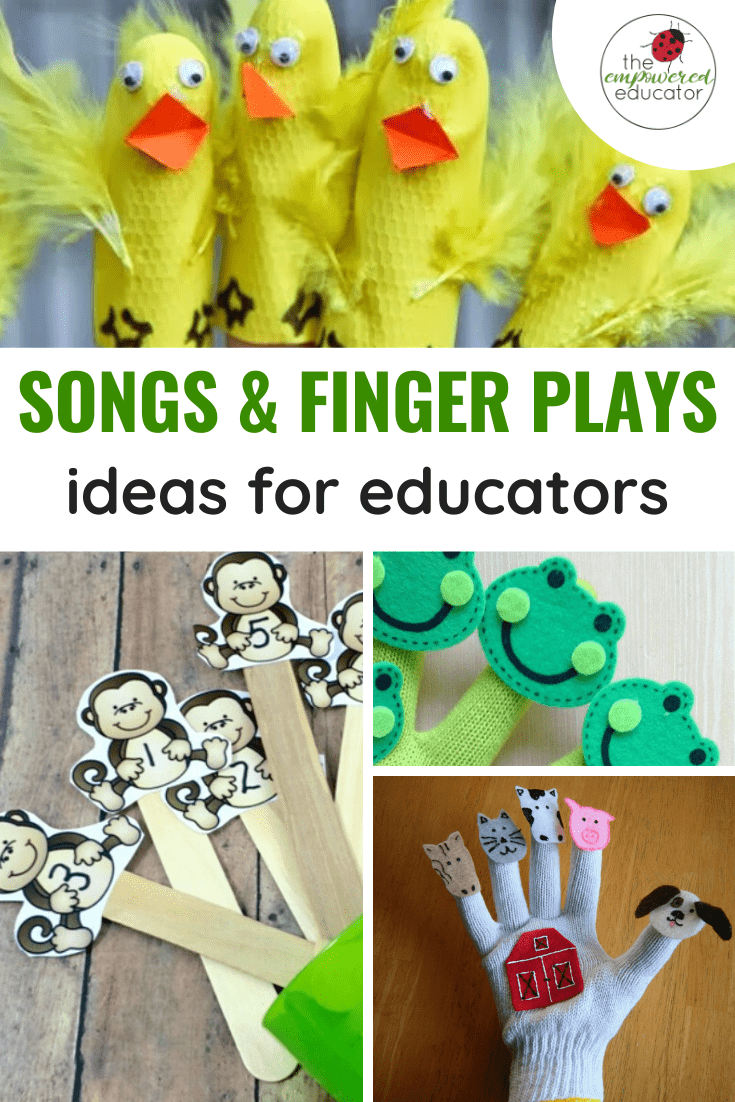 Songs & finger plays for eductors pinterest