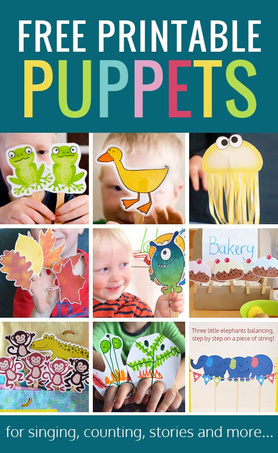 printable puppets for ealry learning