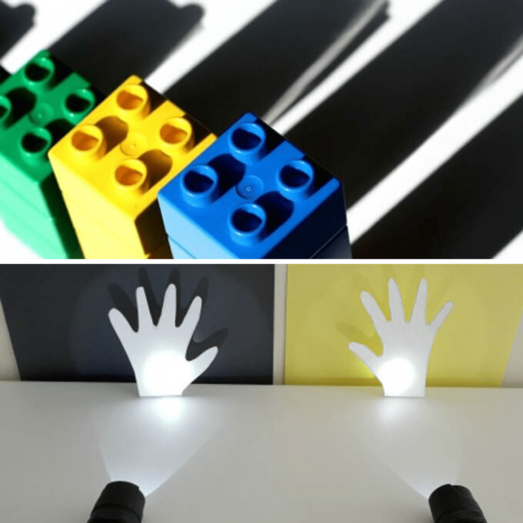 In this post I give educators a huge collection of playful learning activity ideas with colour, light, shadows and reflection - includes learning outcomes!