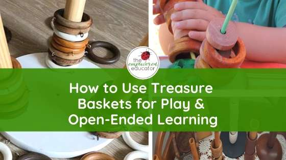 A huge collection of ideas and inspiration to help educators and parents put together treasure baskets for play and learning at home or childcare.