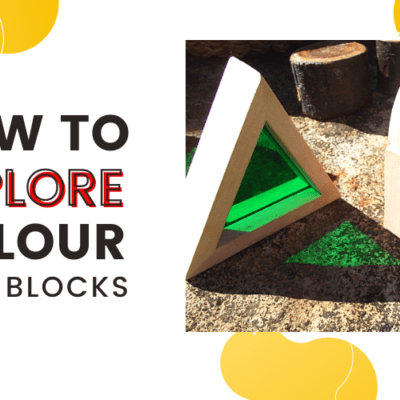 Exploring Colour & Texture Outdoors with Window Blocks!