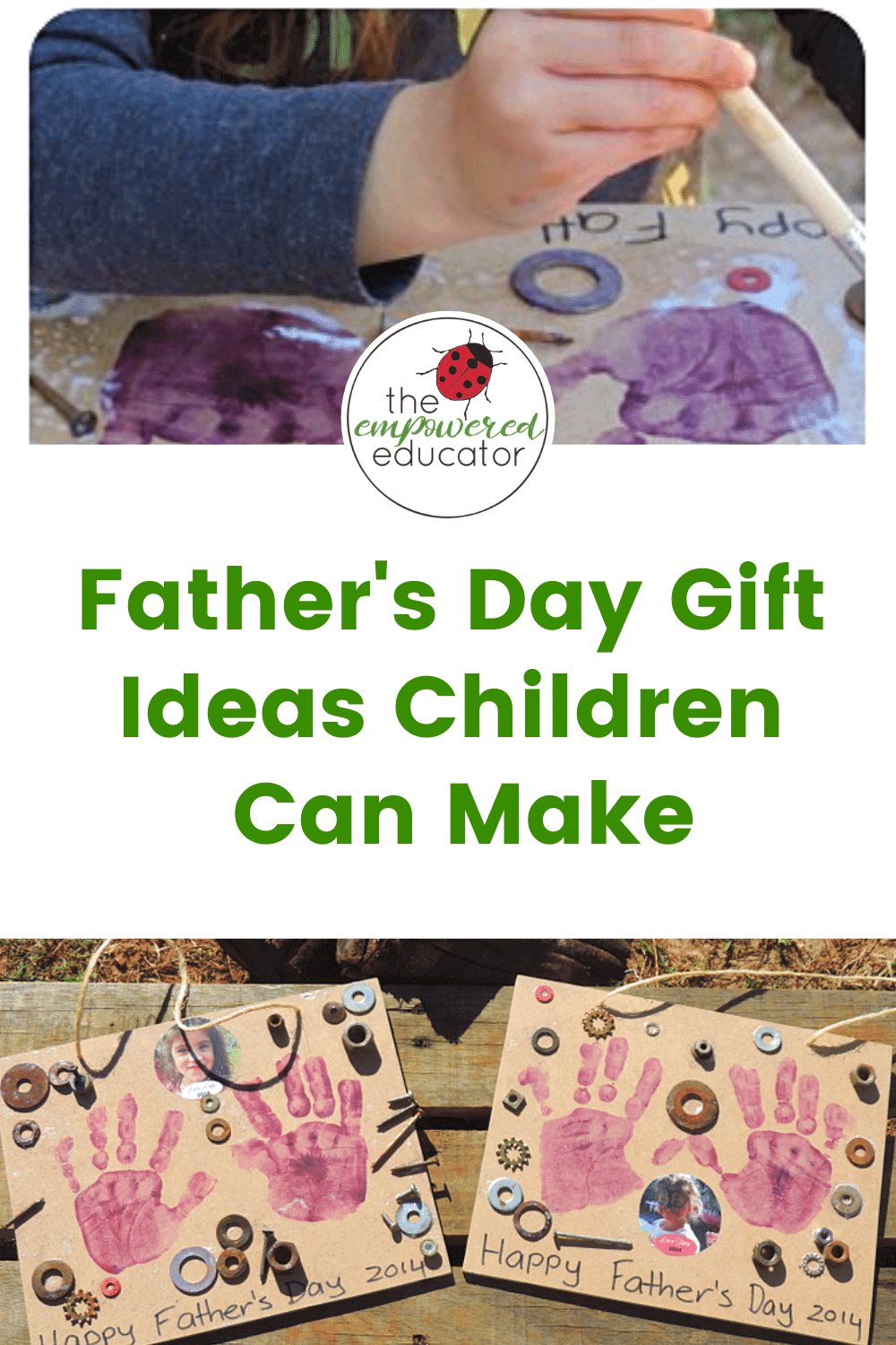 Father's Day gift ideas that the children can make