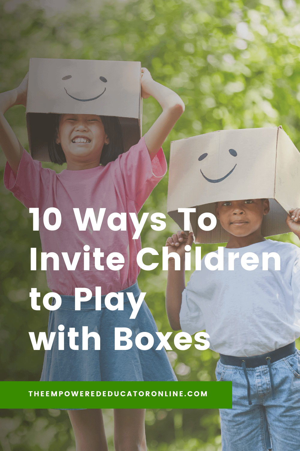 10 Ways To Invite Children to Play with Boxes pin (1)
