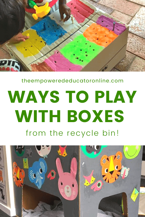 children play with recycled boxes (1)