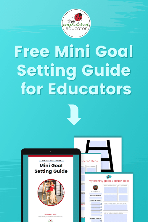 Find out how educators can set goals for assessment and QIP with these simple tips and a freebie mini goal setting guide!