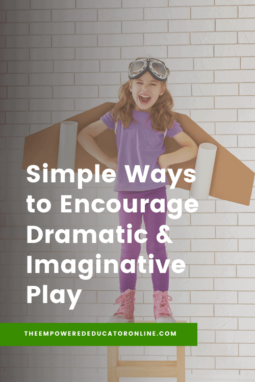 Inspiration for educators and homeschool with this collection of dramatic and imaginative play ideas to try