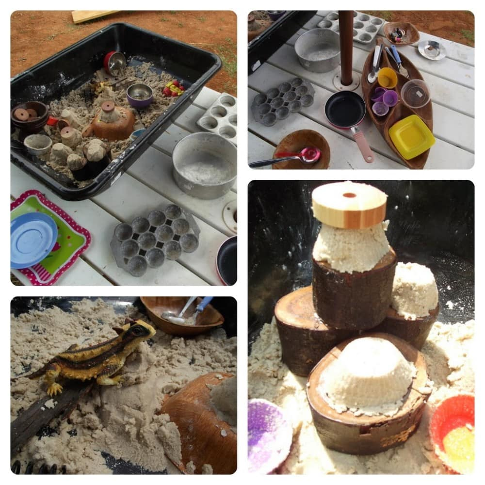Invite and encourage simple sensory sand play when you try one of these easy ideas. Perfect for educators and homeschool!