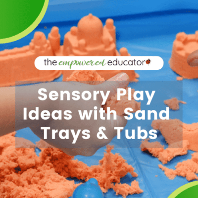 Sensory Play With Sand Trays and Tubs early years