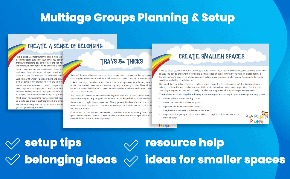 multiage groups planning and setup