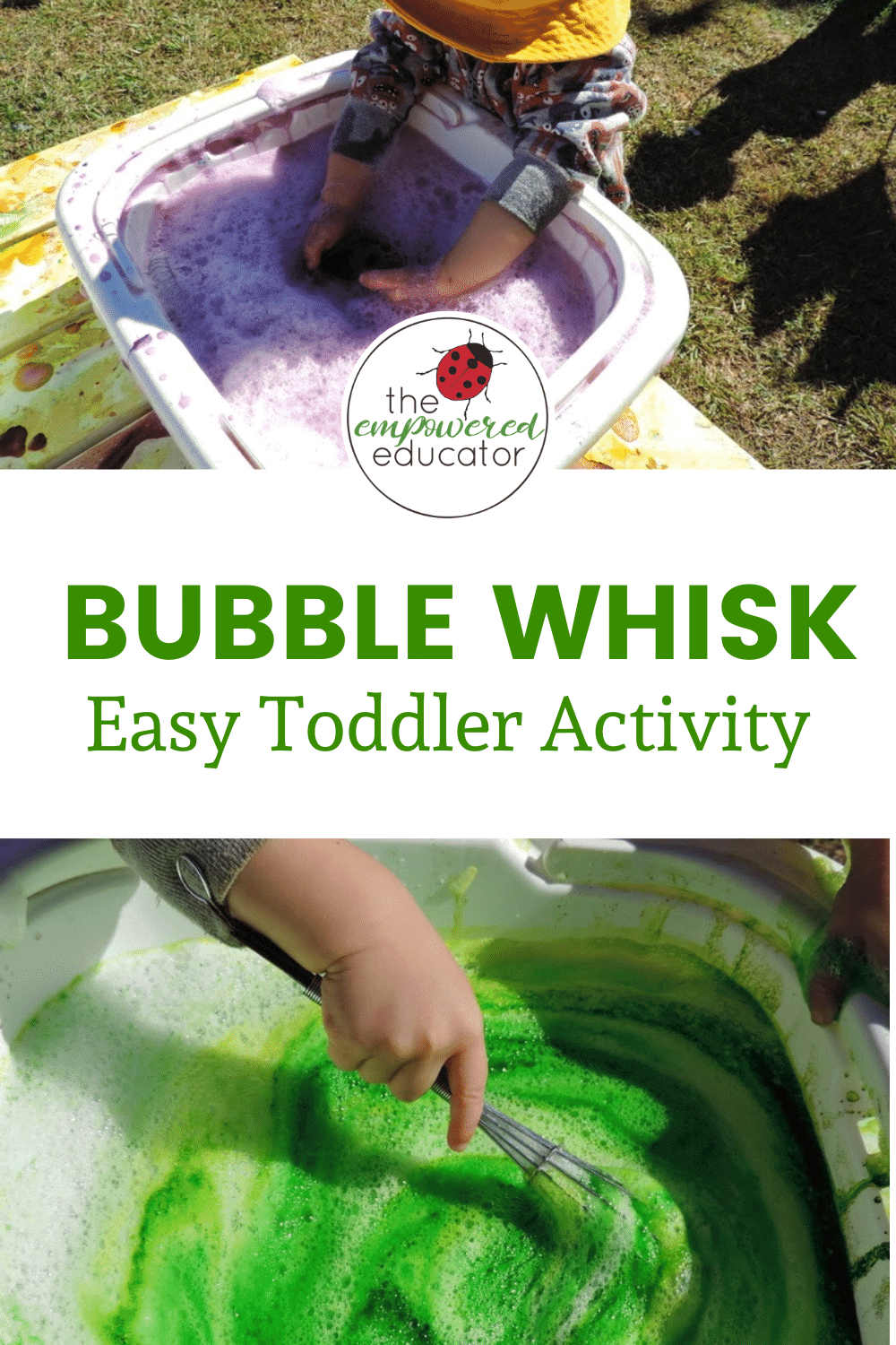 bubble colour whisk for toddlers activity Pinterest