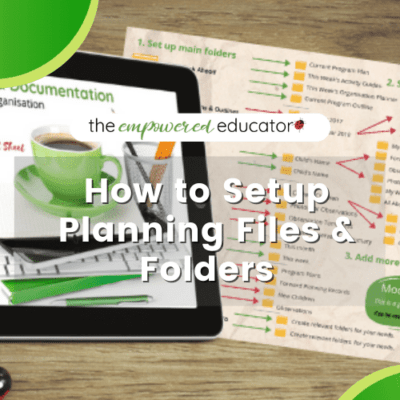How to organise planning folders & files