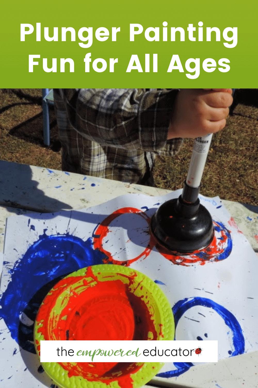 painting plunger fun