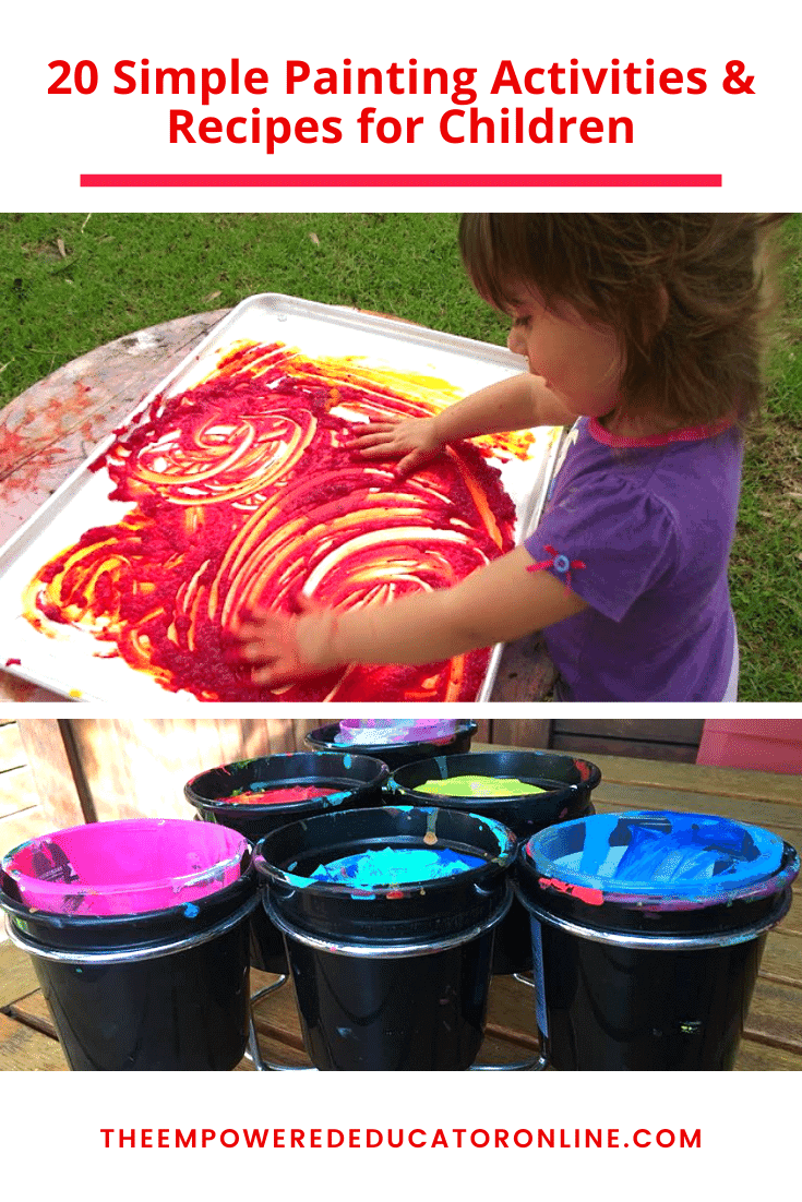 20 Simple Painting Activities & Recipes for Children pin