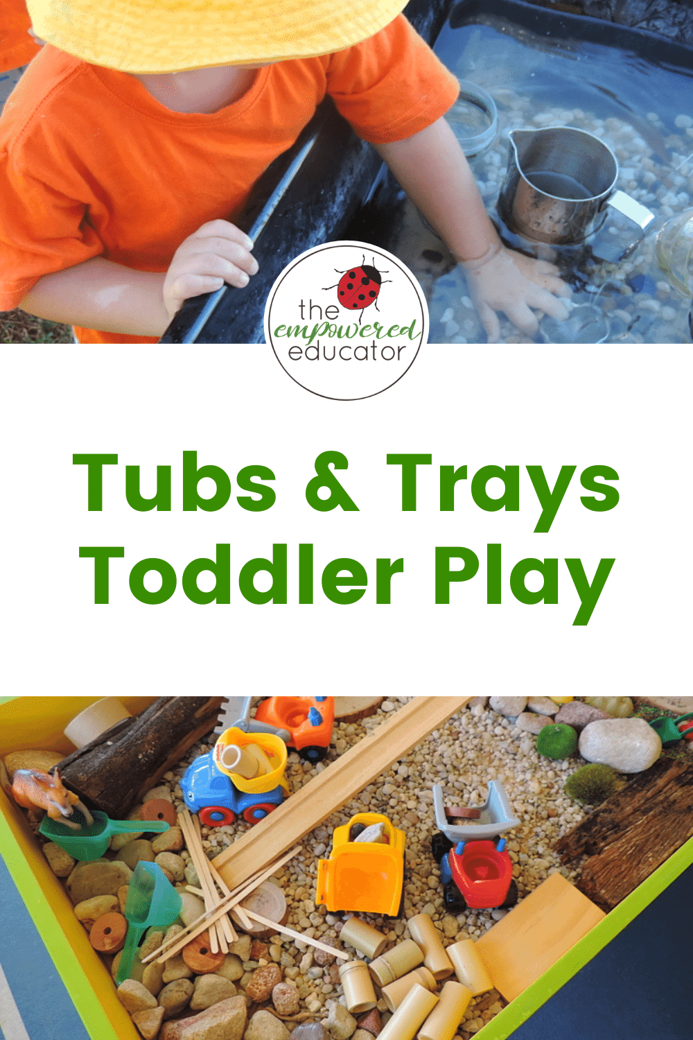 Playful Tubs and Trays for Toddlers pin